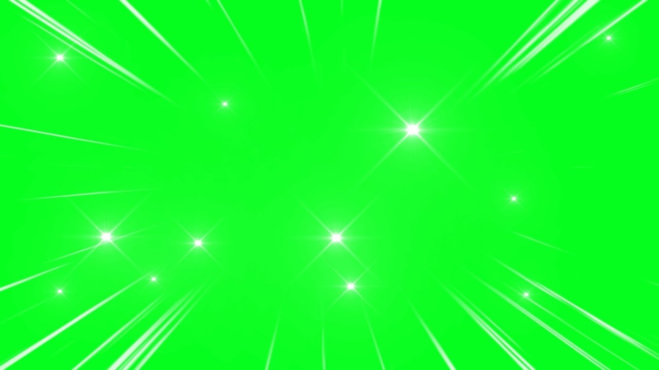 Spark Lights Animation Background Green Screen No Copyright