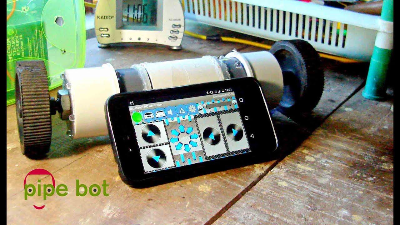 Controlado Pipe Arduino Y BotUn Con Smartphone Robot Divertido Tu l1KcJ3TF