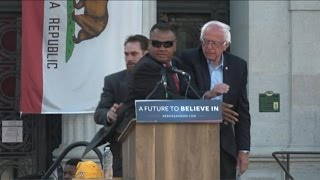 Animal rights group protests presidential candidate's event in oakland, california.subscribe to abc news: https://www./abcnews/watch more on http:...
