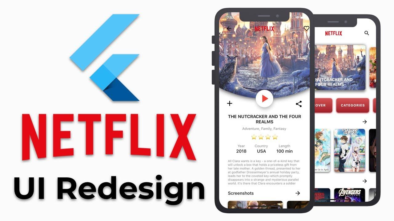 Flutter Netflix UI Redesign   Speed Code