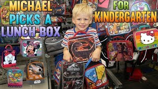 Getting Ready for Kindergarten: Michael Picks a Lunch Box