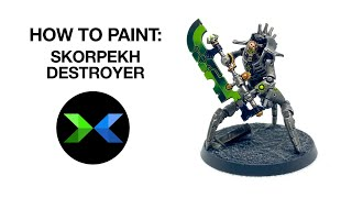 How to paint SKORPEKH DESTROYERS // Painting Indomitus Necrons