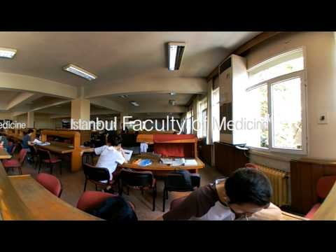 Istanbul University Faculty of Medicine Library VR time lapse 360 degree