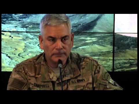 Gen John F. Campbell Presser at Resolute Support (Raw video)