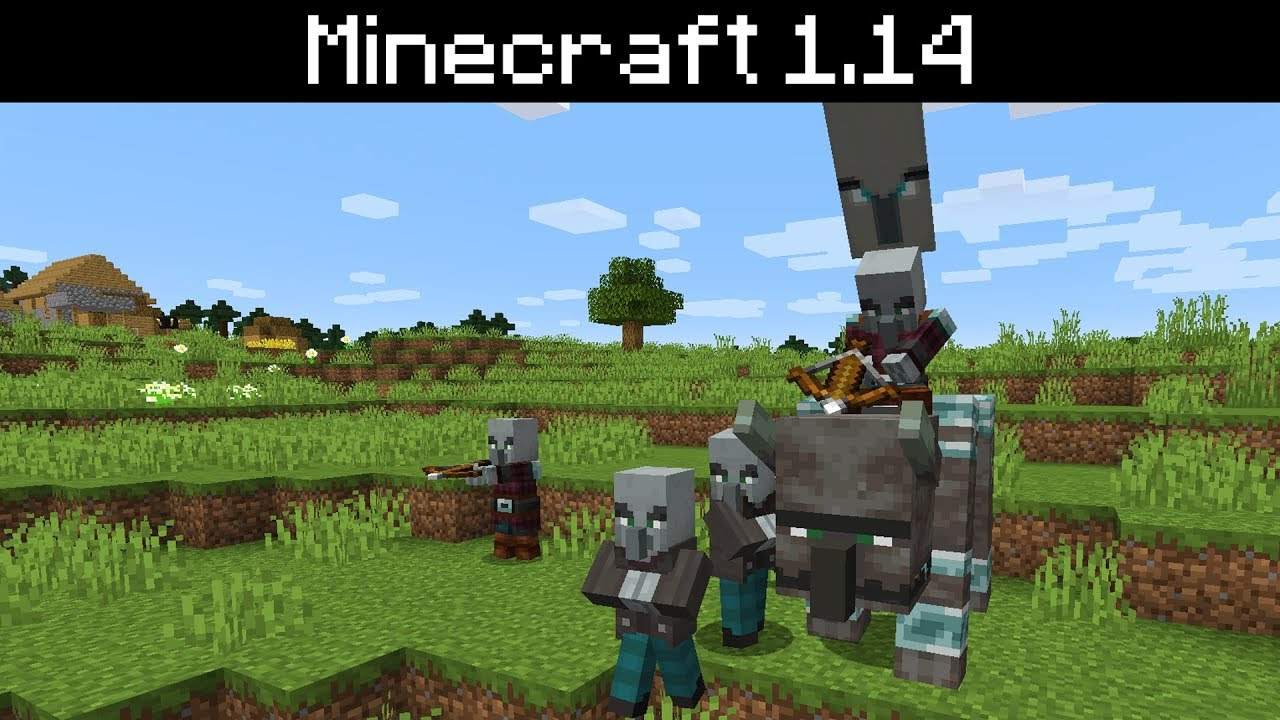 Minecraft 1 14 Illager Patrols Illager Beast Patrol Leader