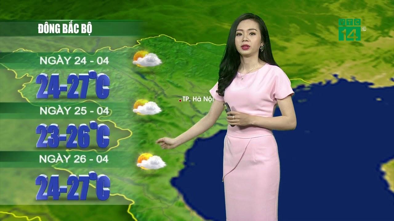 VTC14 | Thời tiết 12h 23/04/2018| Bắc Bộ nên trời ít mưa, trưa chiều có nắng nhiều hơn