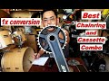 3x to 1x conversion: tamang chainring at cassette