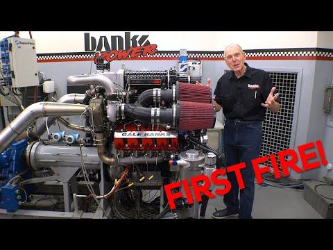 SUPER-TURBO DURAMAX FIRST FIRE! Building A Monster Truck Engine Pt 12