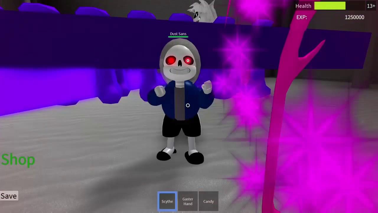 ROBLOX Undertale 3D Boss Battles: Dust Sans Death Montage (D7 SOLO)
