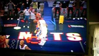 NBA 2K9 Vince Carter Dunks on Yao Ming While getting blocked