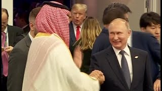 Putin and Mohammed bin Salman share a high five., From YouTubeVideos
