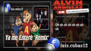 Video Alvin Y Las Ardillas - Ya Me Enteré Remix [Reik Feat. Nicky Jam] Letra 2016 download MP3, 3GP, MP4, WEBM, AVI, FLV November 2017