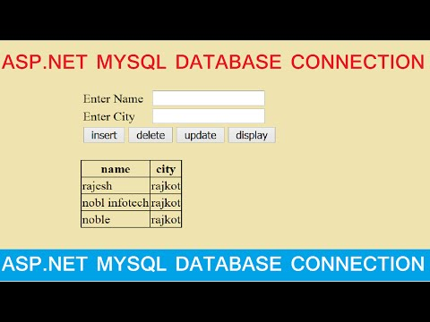 Insert Update Delete View and search data from mysql database in asp.net