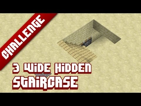 how to make a hidden staircase in minecraft xbox 360