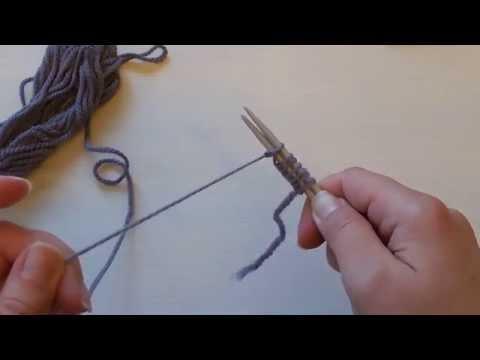 Как набрать эластичную резинку спицами
