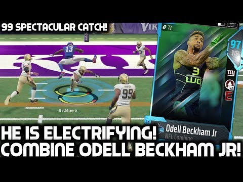 NFL COMBINE ODELL BECKHAM JR IS ELECTRIFYING! RYAN SHAZIER! Madden 18 Ultimate Team