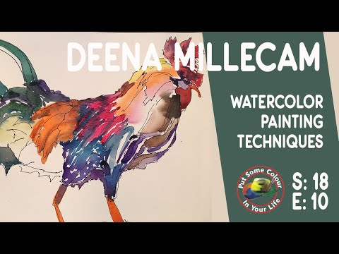 Watercolour painting techniques and tutorial with Deena Millecam I Colour In Your Life