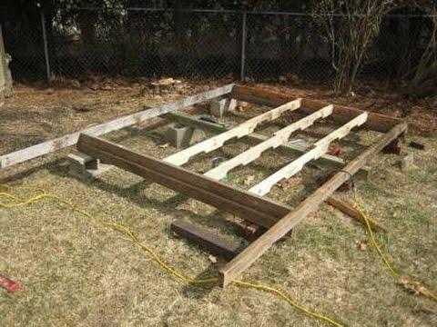 Como hacer una base para casa de madera youtube - Como hacer una caseta de obra ...