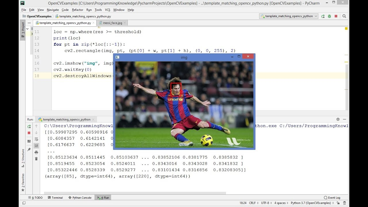 OpenCV Python Tutorial For Beginners 27 - Template matching using OpenCV in  Python
