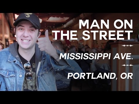 MAN ON THE STREET - Mississippi Ave. - Portland, OR