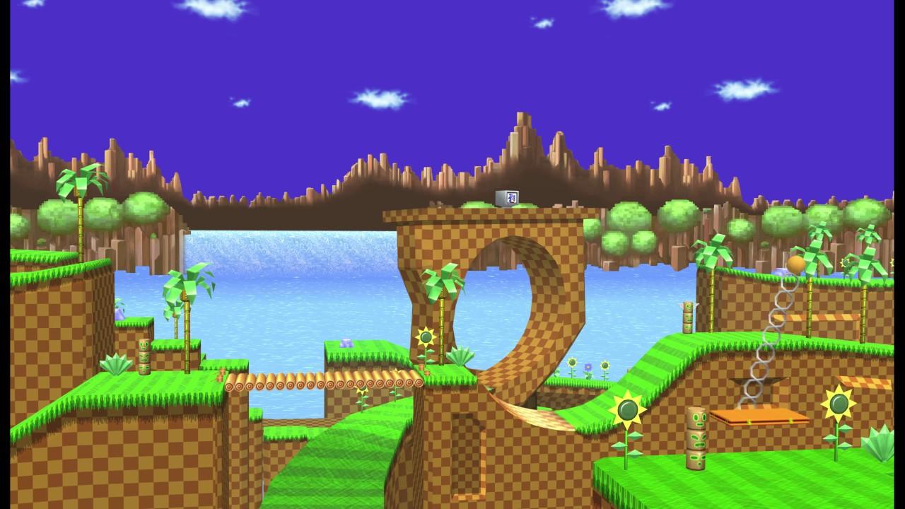 Vgw Sonic The Hedgehog Green Hill Zone 4k Video Wallpaper Youtube