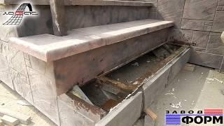 Установка бетонных ступеней, приступков и угловых элементов при монтаже лестницы входной группы
