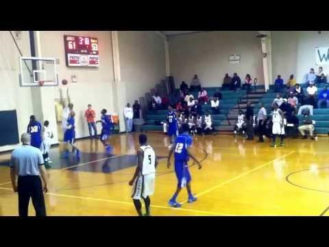 """Ha Ha"" William Lee UAB commit Dallas County High School Alabama catches oop slam dunk 2/14/2014"