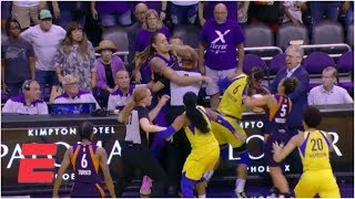 Brittney Griner, Diana Taurasi among 6 ejected after Mercury and Wings scuffle | WNBA Highlights