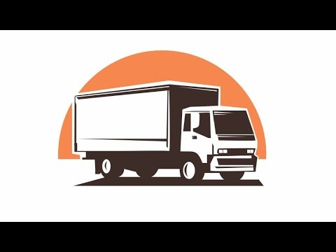 draw simple vector truck illustration youtube