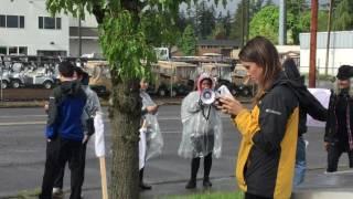 Confederate flag protest Portland Oregon