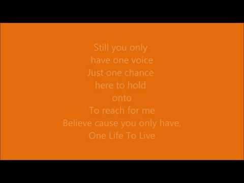 One Life To Live-Kristen Alderson Lyrics
