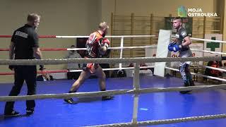 Aleksy Zienkiewicz (Fight Academy Ostrołęka) vs Mateusz Kubeł (Gladiator Ostrołęka)