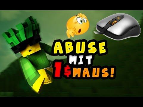GEHT MOUSE ABUSE MIT EINER 1€ MAUS?!   DIE BILLIGSTE MAUS DER WELT IM TEST!  Handcam!]