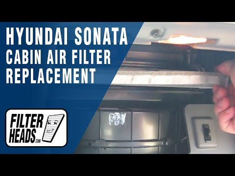 How To Replace Cabin Air Filter 2011 Hyundai Sonata Youtube