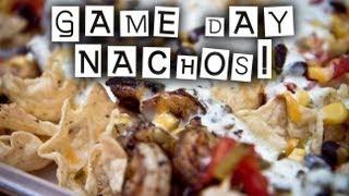 Shrimp and Chorizo Nachos with Cilantro Lime Cream Sauce