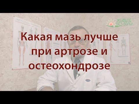 Какая мазь лучше при артрозе и остеохондрозе