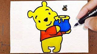 Como Desenhar Ursinho Puff (Pooh)