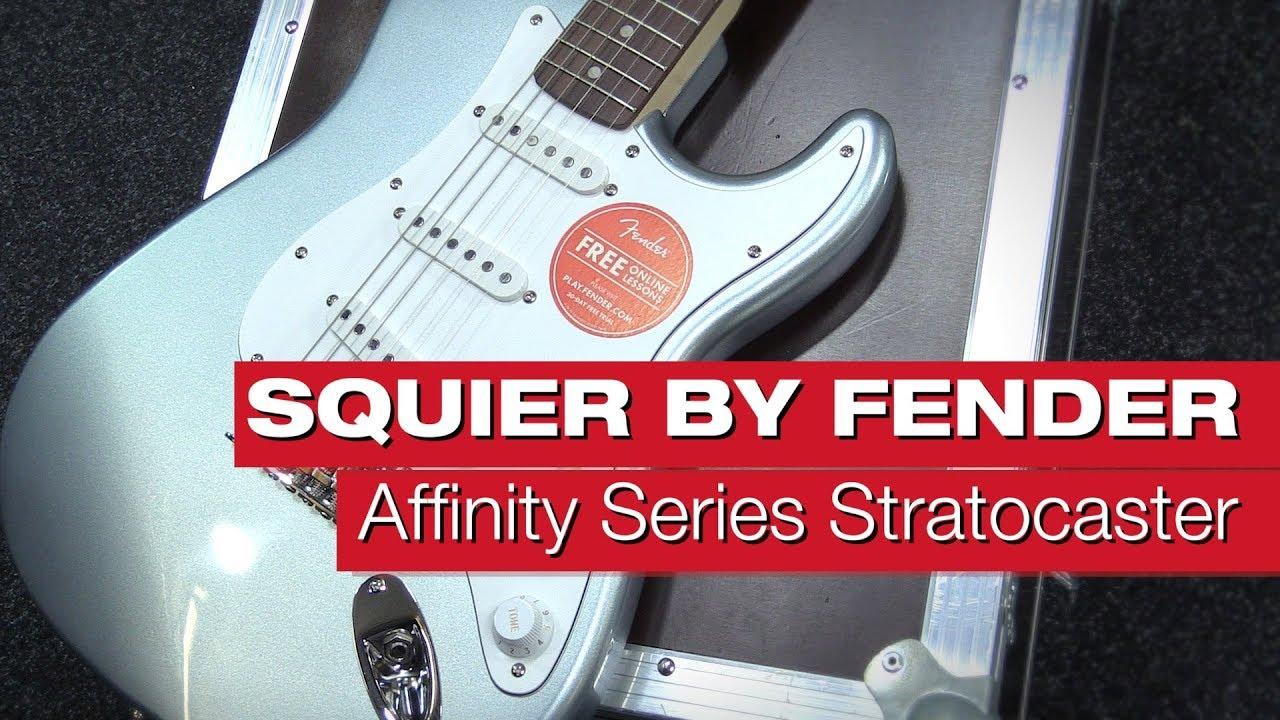 Squier By Fender Affinity Series Stratocaster RW SLS E-Gitarren ...