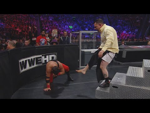 """Jerry Lawler sends Michael Cole crashing into the """"Cole Mine"""": WWE Over the Limit 2011 (WWE Network)"""