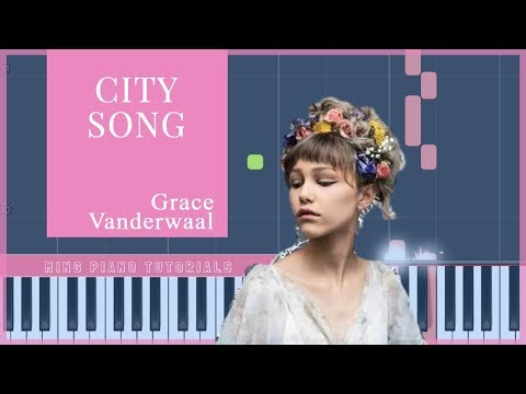 Grace Vanderwaal - City Song (Piano Tutorial)[Synthesia] by Ming Piano Tutorials