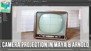 Maya ve Arnold Eğitimde Kamera Projeksiyon Oluşturmak için nasıl İzlemek Gerekir