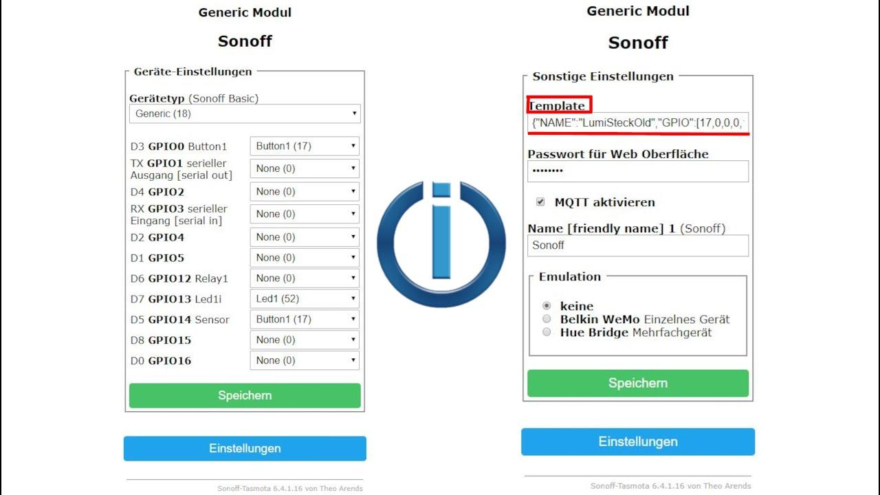 Tasmota flashen Geräte mit Generic selber richtig Einstellen ioBroker
