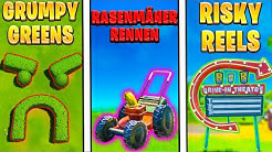 Besuche GRUMPY GREENS, RASENMÄHER RENNEN, RISKY REELS   Fortnite TNTina Test Deutsch