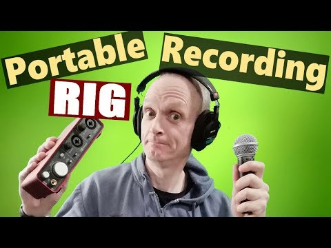 How To Make A Portable Recording Studio - Portable recording rig....in a bag!