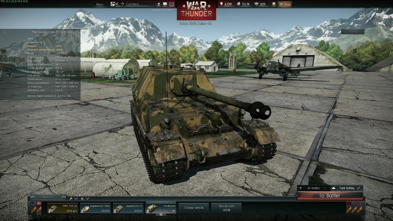 Ferdinand tank review little jagdtiger war thunder for War thunder garage