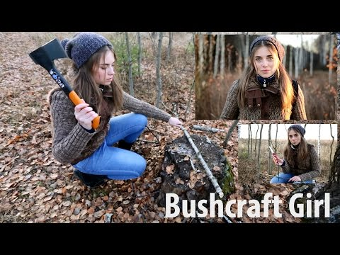 Девушка в Лесу   Bushcraft Girl