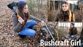 Девушка в Лесу | Bushcraft Girl(Это видео снято специально для конкурса от канала Tactical+. И мы победили в конкурсе! Всем спасибо за поддержку!..., 2014-11-09T17:32:29.000Z)