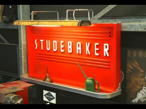 DIY Studebaker Sign with Light - FORME INDUSTRIOUS