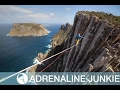 Daredevil Highlines 400m Above Pacific Ocean