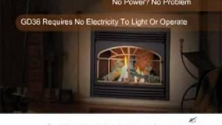 Gd36 Direct Vent Gas Fireplace - Efireplacestore.com